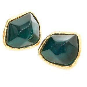 Vintage YSL Emerald Earrings